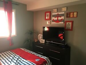 Bedroom in 2 bedroom condo, own bathroom and parking