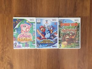 Wii Games, Mario, Sonic, Kirby, Donkey Kong
