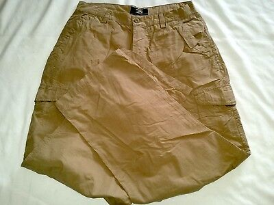 NEW OLD NOS-Vtg RUE 21 GUYS Beige Tan Brown Cargo Pants-Size 31/30-Thigh Pockets