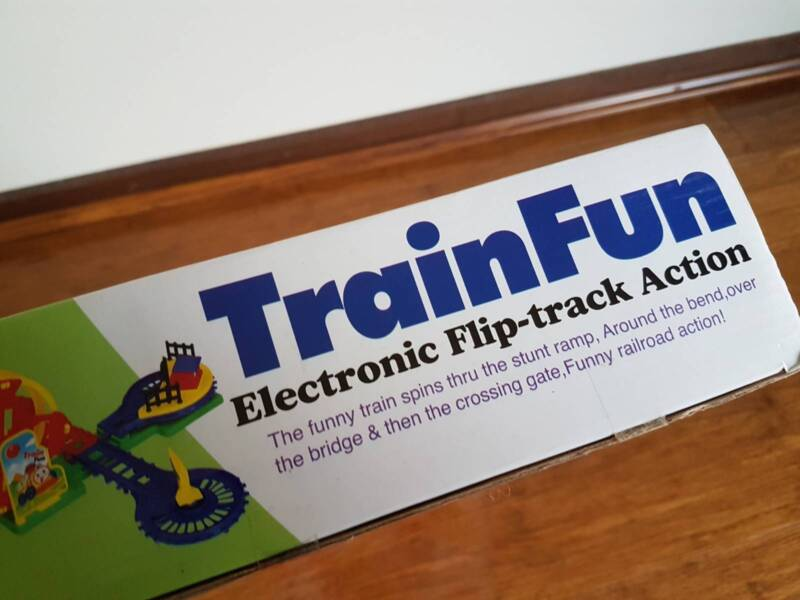 Train Fun Flip track Train Battery Operated Light Music Toy   Toys