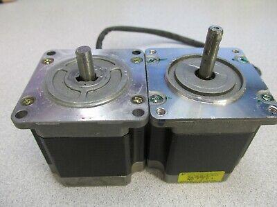 Two Nema 23 Stepper Motors Diy Cnc Mill Lathe Reprap Makerbot 3d Printer Used