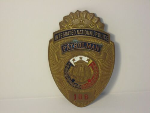 Old Integrated National Police Patrolman Badge Philippines