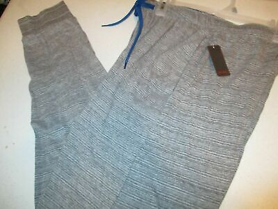 NWT Mens Light Gray striped size Large joggers Embassy Clothing -