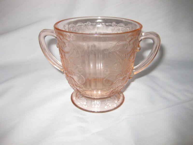 1930-1936 MacBeth-Evans Glass Co. American Sweetheart Pink Open Sugar Bowl