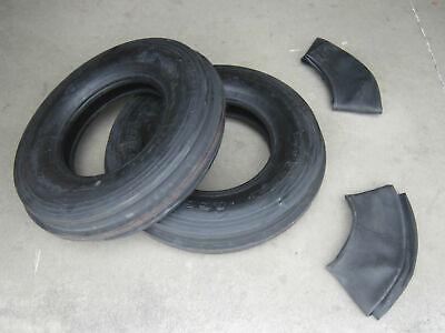 2 7.5-16 Tri Tread Front Tires Innertubes Tractor Fiat 7.5x16 750x16 750-16