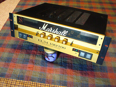 marshall el34 100/100 dual monbloc power amp amplifier #1