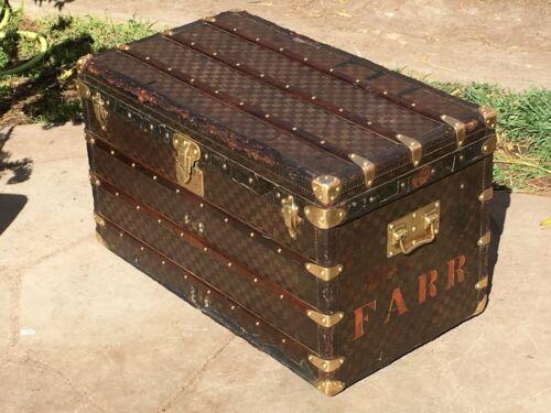 LOUIS VUITTON MALLE Damier Steamer Trunk chest purse bag LV cabin lv 2