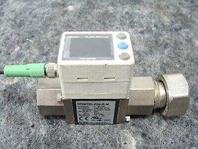 Smc Digital Water Flow Switch Pf3w720-f04-e-m 2-16 Lmn 12 F Ports Pf3w720