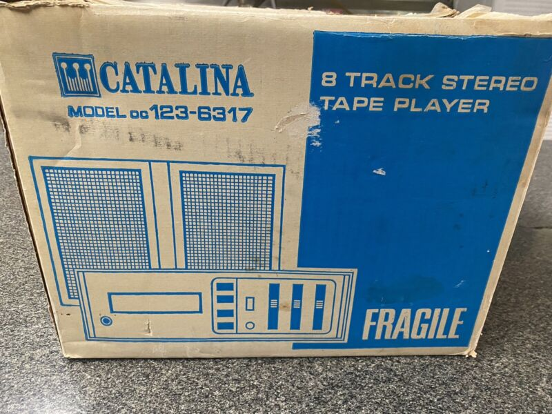 Vintage Catalina 8 Track Player with Speakers. Never Used.