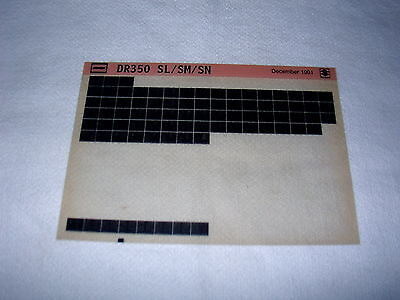 SUZUKI DR350 DR 350 SL/SM/SN GEN PARTS CATALOGUE MICROFICHE
