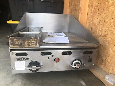 Vulcan Msa24-101 24 Countertop Natural Gas Griddle With Snap Action Thermostati