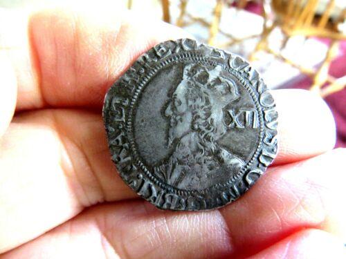 High Grade (XF) Original Charles I. Shilling. 1641-1643 England. Silver Coin
