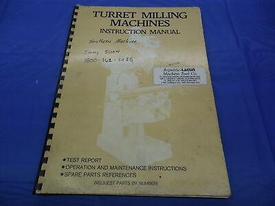 Repulic-lagun Turret Milling Machines Instruction Manual Maintenance Parts List