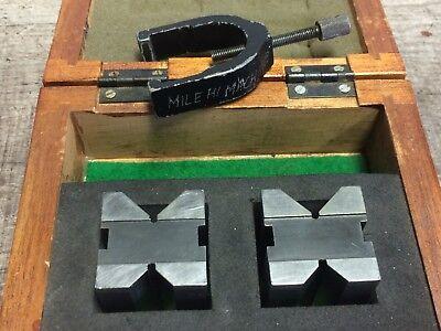 Pair Of Mitutoyo V Blocks 1 14 X 1 12 X 1 14
