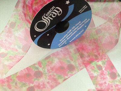 Offray WATERCOLOUR sheer organza - 3 yds / 2.7m - ribbon 38mm CLEARANCE  No reel