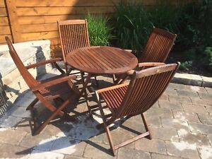 Teak Table and 4 Chairs