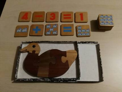 Wooden puzzles for infants x 2