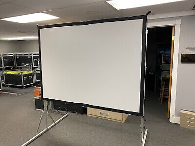 Da-lite Deluxe Fast Fold Frame With 54x74 Projector Screen Rear Front
