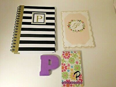 Lot Stationery Planner Notes Notepad Initial P