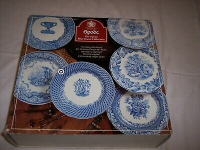 """Set of 6 Spode 10"""" Blue Room Victorian Collection Plates - NIB"""