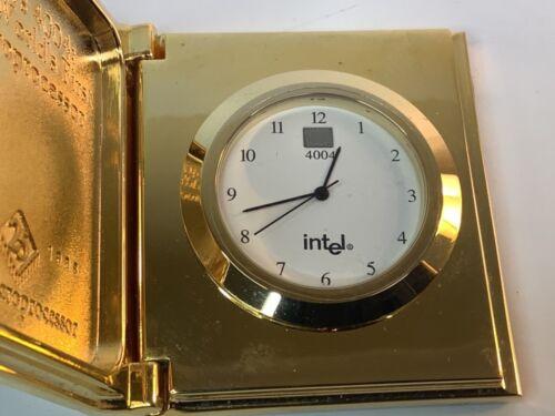 Vintage  Intel 4004 Gold Plated Brass World