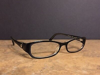 Calvin Klein Women's Frame Plastic Black/Clear  52-16-135 Size Very Nice!