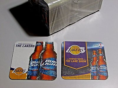 125 Bud Light Los Angeles Lakers NBA bar Beer Coasters Basketball lift Mats