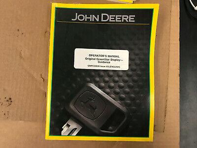 Oem John Deere Operators Manual Greenstar Display Guidance K6