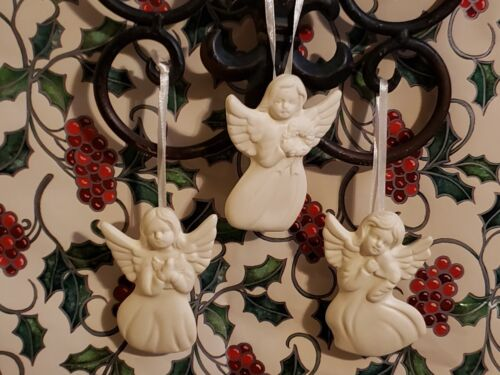 Jade Porcelain Angel Christmas Tree Ornaments Set of 12
