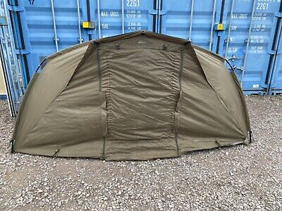 CARP FISHING TACKLE - TRAKKER TEMPEST COMPOSITE BIVVY WITH OVER WRAP