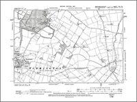 OLD ORDNANCE SURVEY MAP BURY NW 1908 TOTTINGTON ELTON FOLD HASLAM HEY WOODHILL