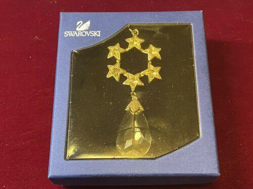 Swarovski Star Wreath Drop Crystal Christmas Ornament New! NIB! #1299916