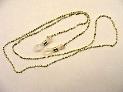 feine goldene facettierte Brillenkette Kugelkette aus Metall, nickelfrei