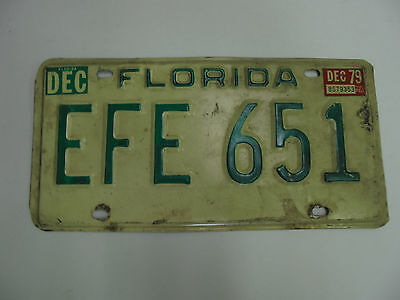 Vintage  1979 FLORIDA License Plate Tag RAT ROD