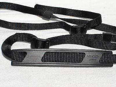 Genuine MINOLTA black CAMERA NECK STRAP  (no metal parts model )  #00489
