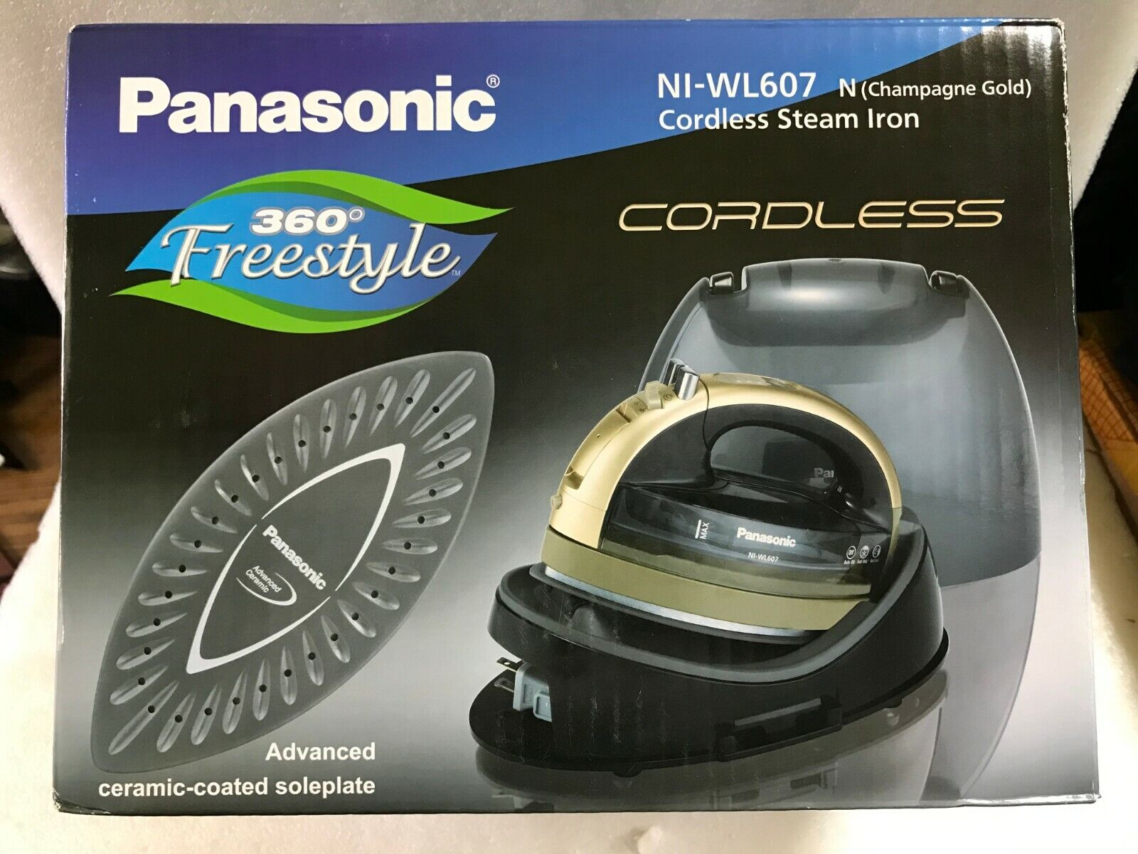 NEW Panasonic NI-WL607 Champagne Panasonic 360 Freestyle Cor