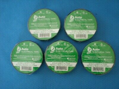 5 Rolls Duck Auto Electrical Tape New 34 In. X 60 Ft