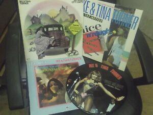 IKE & TINA TURNER ,Vinyl Joblot ,VG+/EXC , Ltd Edition Picture Disc & 3 Albums