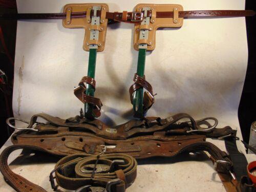 BASHLIN BD-12 Pole/Tree Steel Adjustable Climbing Spurs/Spikes & Belt / Strap