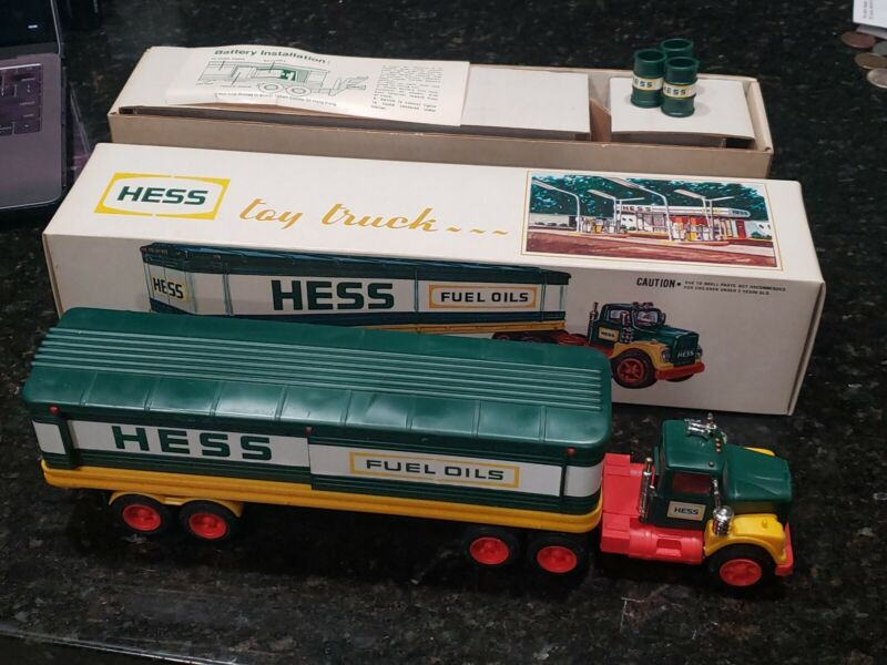 1976 Hess Truck With Barrels Box And Instructions Headlights Work
