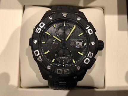 Tag Heuer Aquaracer 500m Black Titanium Automatic Chrono Men's Watch