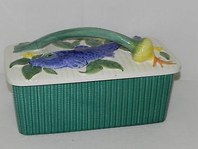Schramberg Majolika Keramik Heringdose Fischdose Schramberger Deckeldose Dose