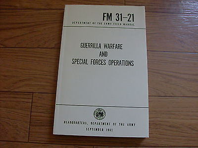 U.S DEPARTMENT OF THE ARMY GUERRILLA WARFARE SPECIAL FORCES HANDBOOK