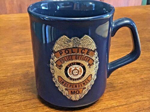 Vintage Gold Plated Independence, Missouri Police Officer Badge Coffee Mug