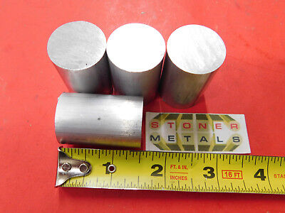 4 Pieces 1 6061 Aluminum Round Rod Bar 1.5 Long Solid T6511 New Lathe Stock