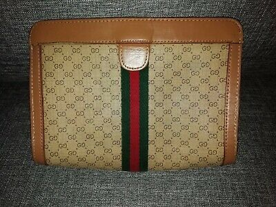 VINTAGE  GUCCI PARFUMS CLUTCH BAG/COSMETIC BAG