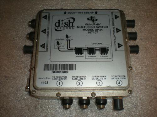 Dish Network Pro DP34 107107 Multi Dish Satellite Switch Videopath