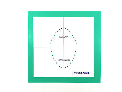 Envision Latex Dental Dam Mint Natural Rubber 6x6 Green 36 Sheets Frame