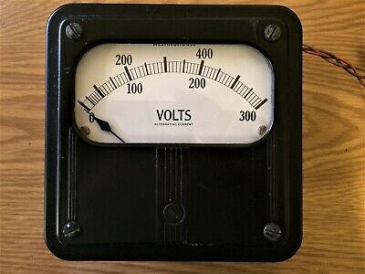 Vintage Large Westinghouse 300600 Volt Ac Meter Panel Mount 4215 Usa
