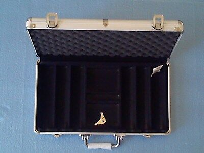 - Poker Chip Case 300 chip capacity heavy gauge aluminum